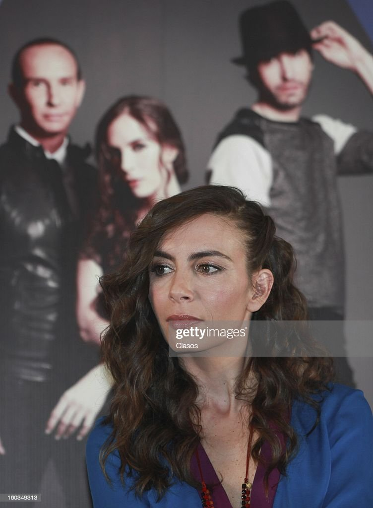 Singer Sasha looks on during the press conference in which they were awarded with a platinum disc at Presidente Intercontinental Hotel on January 29, 2013 in Mexico City, Mexico.
