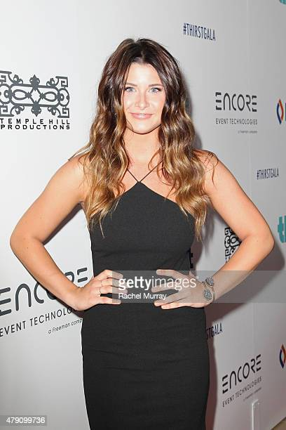 Singer Savannah Outen attends the 6th Annual Thirst Gala at The Beverly Hilton Hotel on June 30 2015 in Beverly Hills California