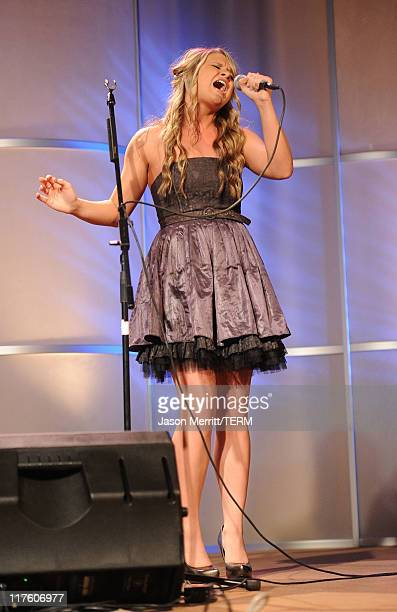 Singer Savannah Outen performs at the 2nd Annual Thirst Project Gala at The Beverly Hilton hotel on June 28 2011 in Beverly Hills California
