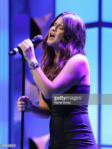 Singer Savannah Outen performs during the 6th Annual Thirst Gala at The Beverly Hilton Hotel on June 30 2015 in Beverly Hills California