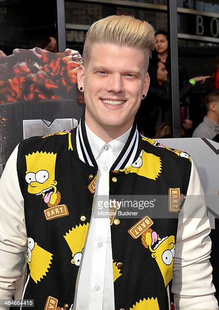 Singer Scott Hoying attends the 2014 MTV Movie Awards at Nokia Theatre LA Live on April 13 2014 in Los Angeles California