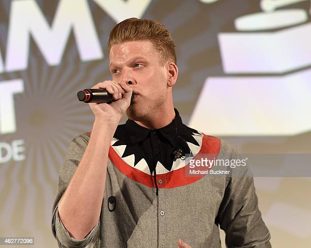 Singer Scott Hoying of Pentatonix performs at GRAMMY Connect part of the 57th Annual GRAMMY Awards at YouTube Space LA on February 4 2015 in Los...