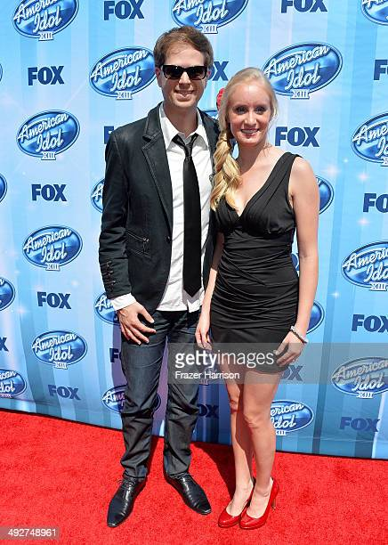 Singer Scott MacIntyre and Christina MacIntyre attend Fox's 'American Idol' XIII Finale at Nokia Theatre LA Live on May 21 2014 in Los Angeles...