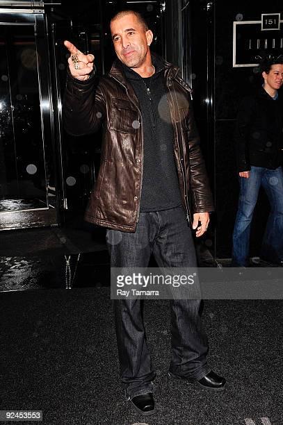 Singer Scott Stapp of Creed leaves his Midtown Manhattan hotel on October 28 2009 in New York City