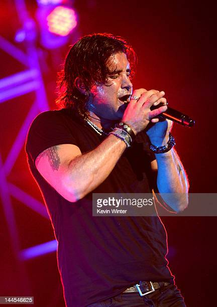 Singer Scott Stapp of Creed performs at the Wiltern Theatre on May 15 2012 in Los Angeles California