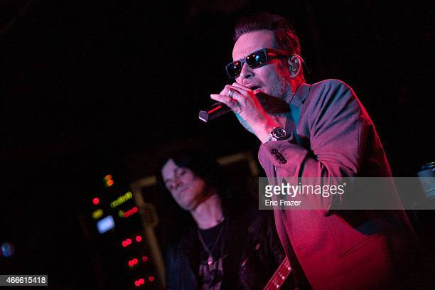Singer Scott Weiland of Scott Weiland The Wildabouts performs at The Brighton Music Hall on March 14 2015 in Boston Massachusetts