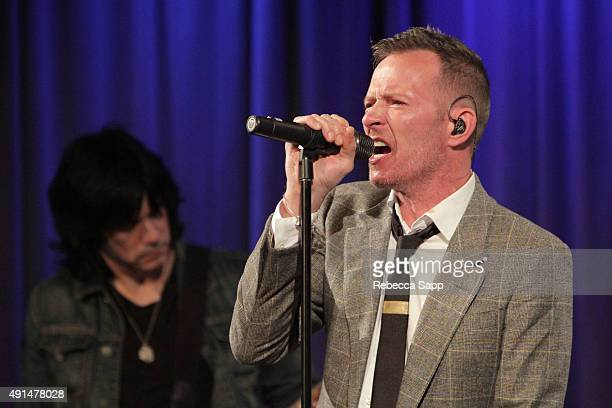 Singer Scott Weiland performs at An Evening With Scott Weiland at The GRAMMY Museum on October 5 2015 in Los Angeles California