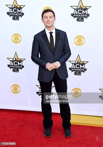 Singer Scotty McCreery attends the 50th Academy of Country Music Awards at ATT Stadium on April 19 2015 in Arlington Texas