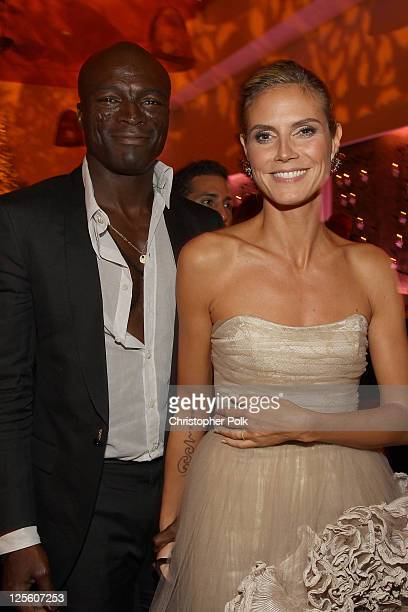 Singer Seal and Heidi Klum attend the EMMY nominees celebration with FOX Broadcasting Company Twentieth Century FOX Television and FX at Fig Olive...