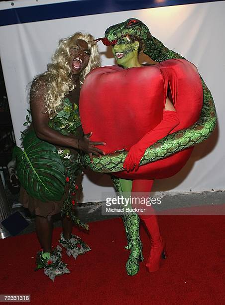 Singer Seal and model Heidi Klum arrive at Heidi Klum's 7th Annual Halloween Party at Privilege on October 31 2006 in Los Angeles California