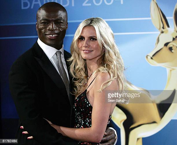 Singer Seal and model Heidi Klum arrive at the Bambi Awards 2004 at the Theater im Hafen on November 18 2004 in Hamburg Germany