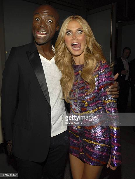 Singer Seal and Model Heidi Klum at the 12th Annual Victoria's Secret Fashion Show after party at the Renaissance Hotel on November 15 2007 in Los...