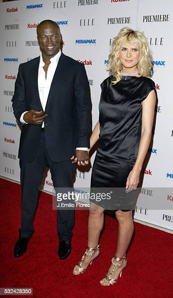 Singer Seal and model Heidi Klum attend the Miramax PreOscar and 25th Anniversary party at the Pacific Design Center
