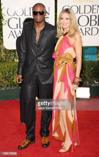 Singer Seal and model/TV personality Heidi Klum arrives at the 68th Annual Golden Globe Awards held at The Beverly Hilton hotel on January 16 2011 in...