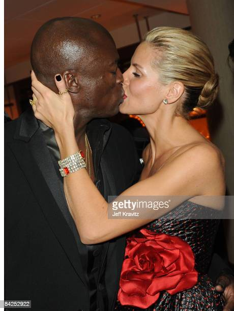 BEVERLY HILLS CA JANUARY 11 **EXCLUSIVE** Singer Seal and TV Personality Heidi Klum attend the official HBO after party for the 66th Annual Golden...