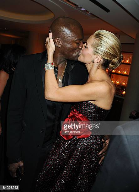 Singer Seal and TV Personality Heidi Klum attend the official HBO after party for the 66th Annual Golden Globe Awards held at Circa 55 Restaurant...
