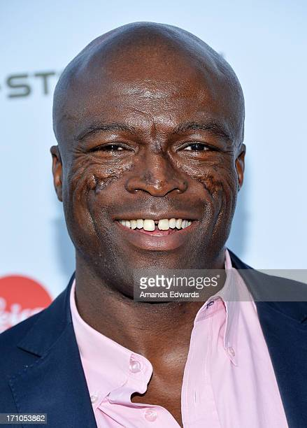 Singer Seal arrives at the Leica Store Los Angeles Grand Opening at Leica on June 20 2013 in Los Angeles California