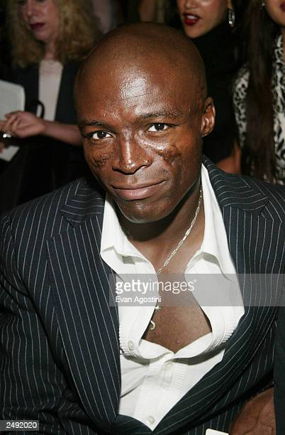 Singer Seal attends the Baby Phat Spring/Summer 2004 Fashion Show during MercedesBenz Fashion Week at Bryant Park September 13 2003 in New York City
