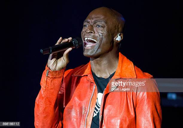 Singer Seal performs at Meadow Brook Music Theater on August 31 2016 in Rochester Michigan