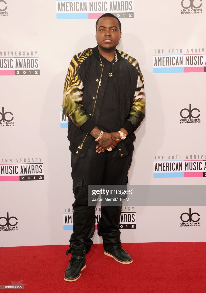 Singer Sean Kingston attends the 40th American Music Awards held at Nokia Theatre LA Live on November 18 2012 in Los Angeles California