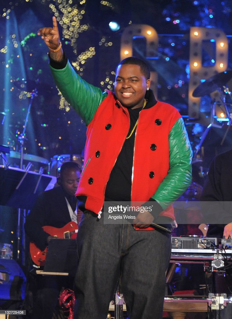 Singer Sean Kingston performs at the Hollywood Christmas Celebration and Tree Lighting at The Grove on November 13 2011 in Los Angeles California