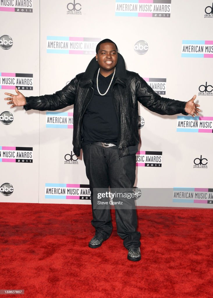 Singer Sean Kingtson arrives at the 2011 American Music Awards held at Nokia Theatre LA LIVE on November 20 2011 in Los Angeles California