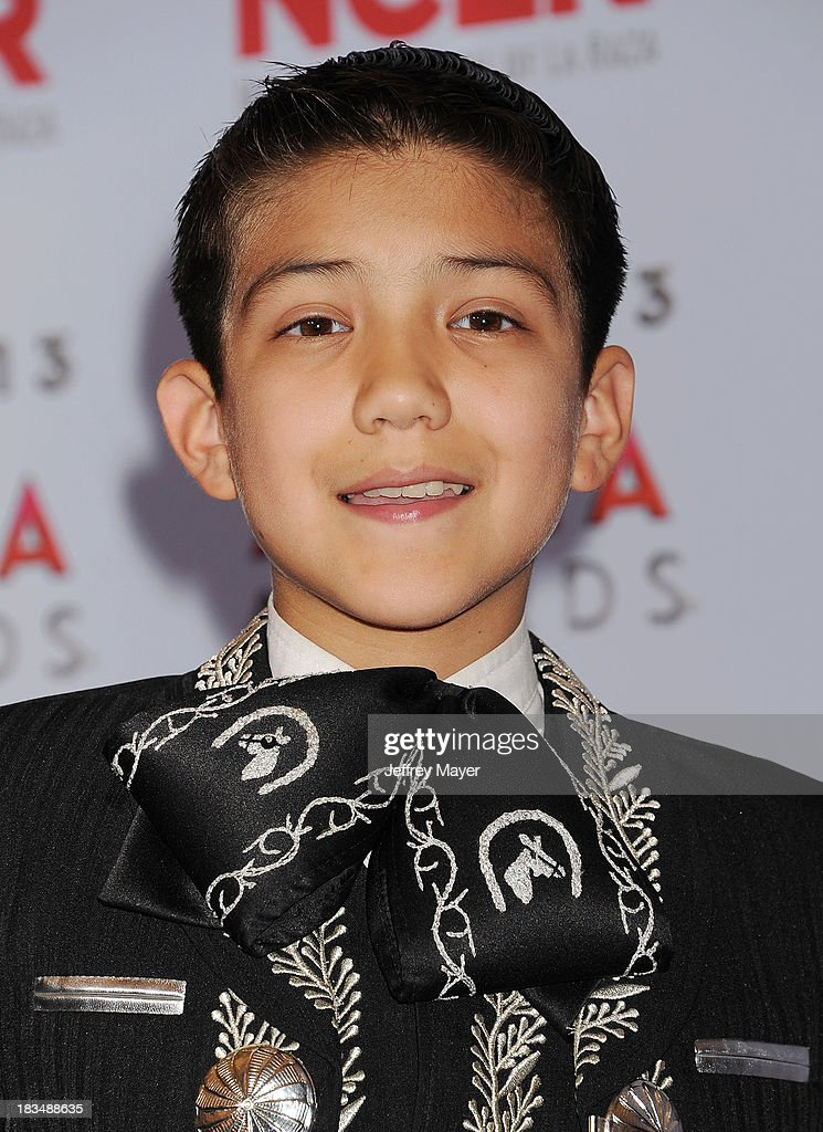 Singer Sebastian de la Cruz poses in the press room at the 2013 NCLA ALMA Awards at Pasadena Civic Auditorium on September 27, 2013 in Pasadena, California.