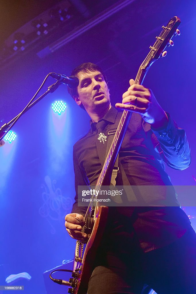 Singer Sel Balamir of Amplifier performs live during a concert at the Postbahnhof on November 23, 2012 in Berlin, Germany.