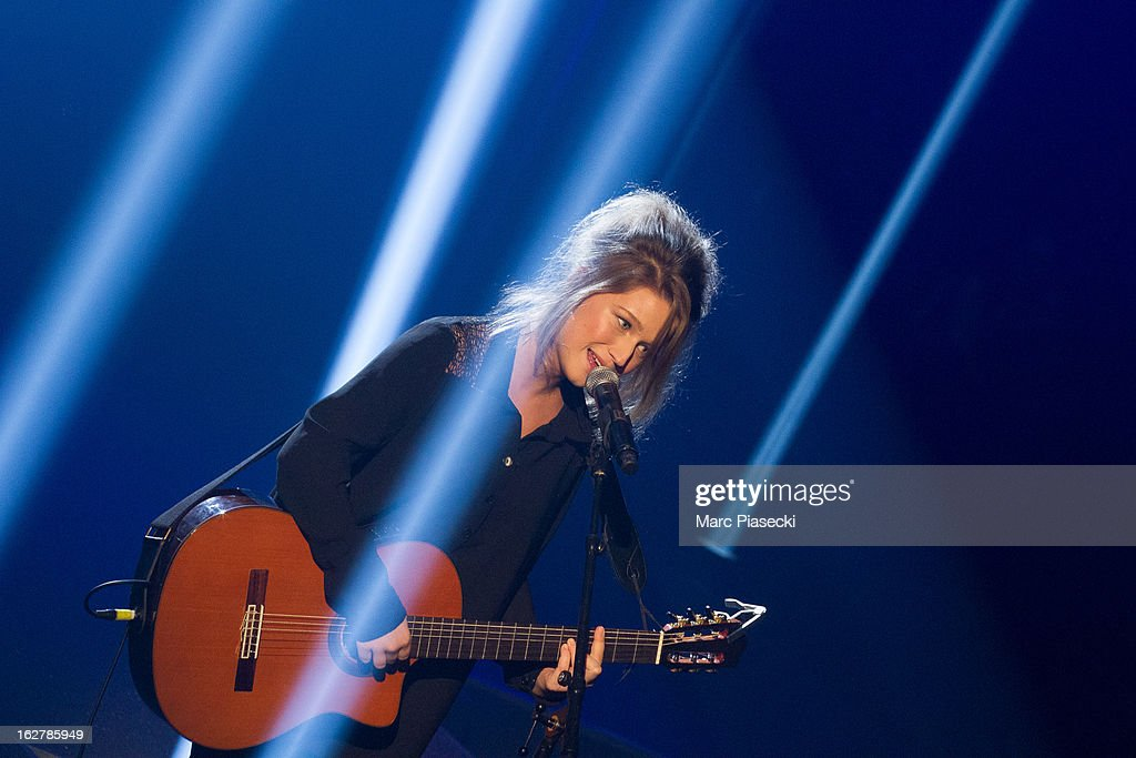 Singer Selah Sue performs during the 'Etam Live Show Lingerie' at Bourse du Commerce on February 26, 2013 in Paris, France.