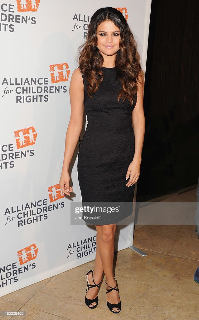 Singer <a gi-track='captionPersonalityLinkClicked' href=/galleries/search?phrase=Selena+Gomez&family=editorial&specificpeople=4295969 ng-click='$event.stopPropagation()'>Selena Gomez</a> arrives at The Alliance For Children's Rights 22nd Annual Dinner at The Beverly Hilton Hotel on April 7, 2014 in Beverly Hills, California.