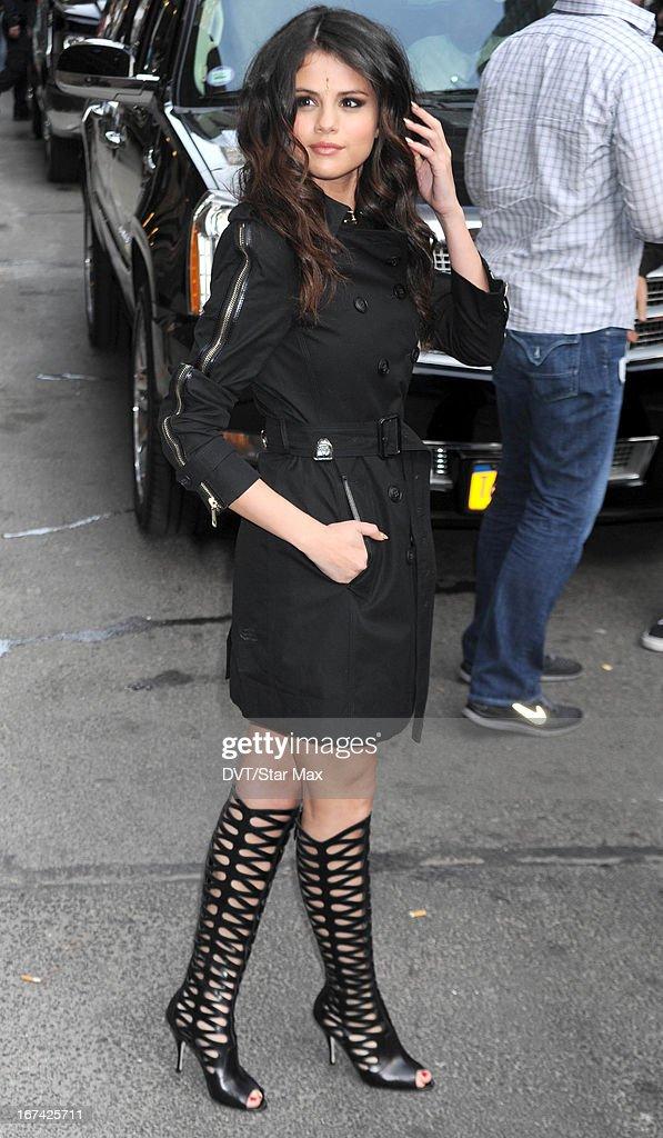 Singer Selena Gomez as seen on April 24, 2013 in New York City.