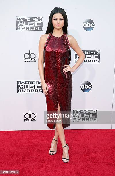 Singer Selena Gomez attends the 2015 American Music Awards at Microsoft Theater on November 22 2015 in Los Angeles California