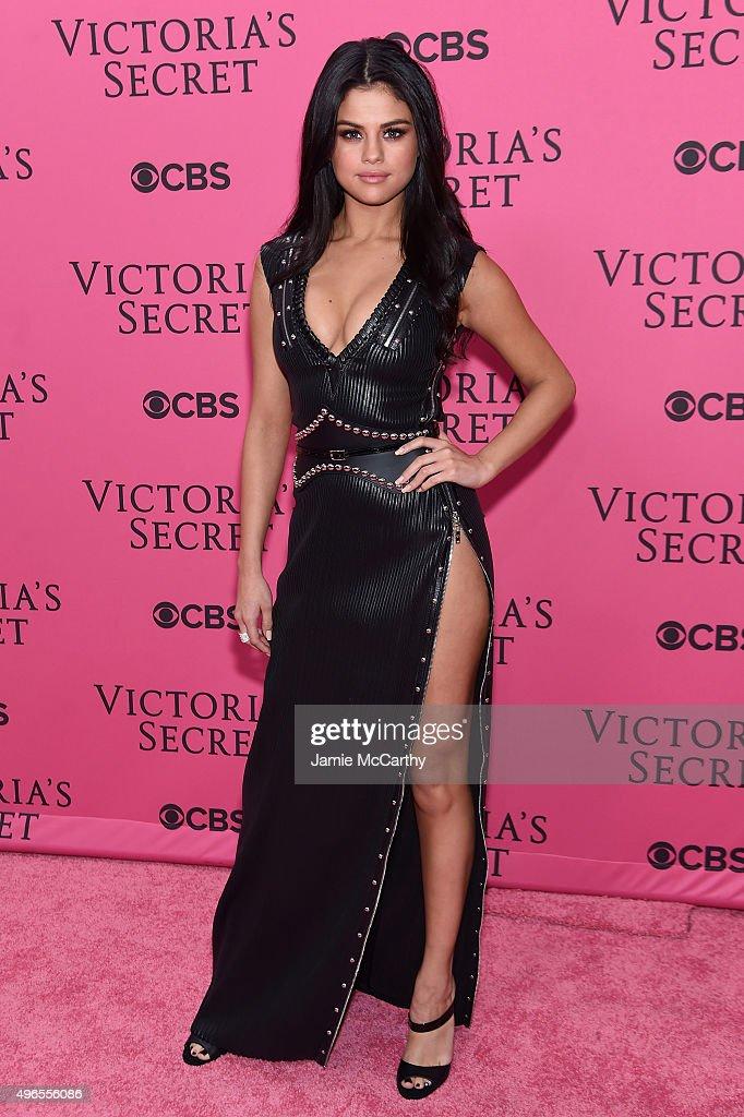 Singer Selena Gomez attends the 2015 Victoria's Secret Fashion Show at Lexington Avenue Armory on November 10, 2015 in New York City.