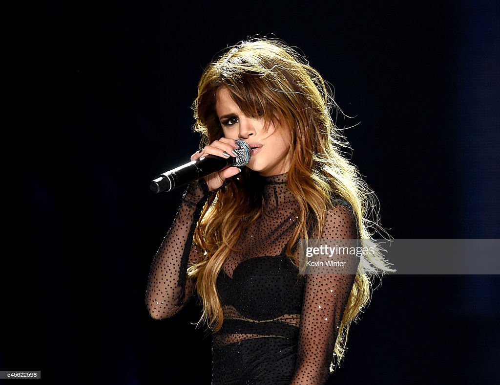Singer Selena Gomez performs at Staples Center on July 8 2016 in Los Angeles California