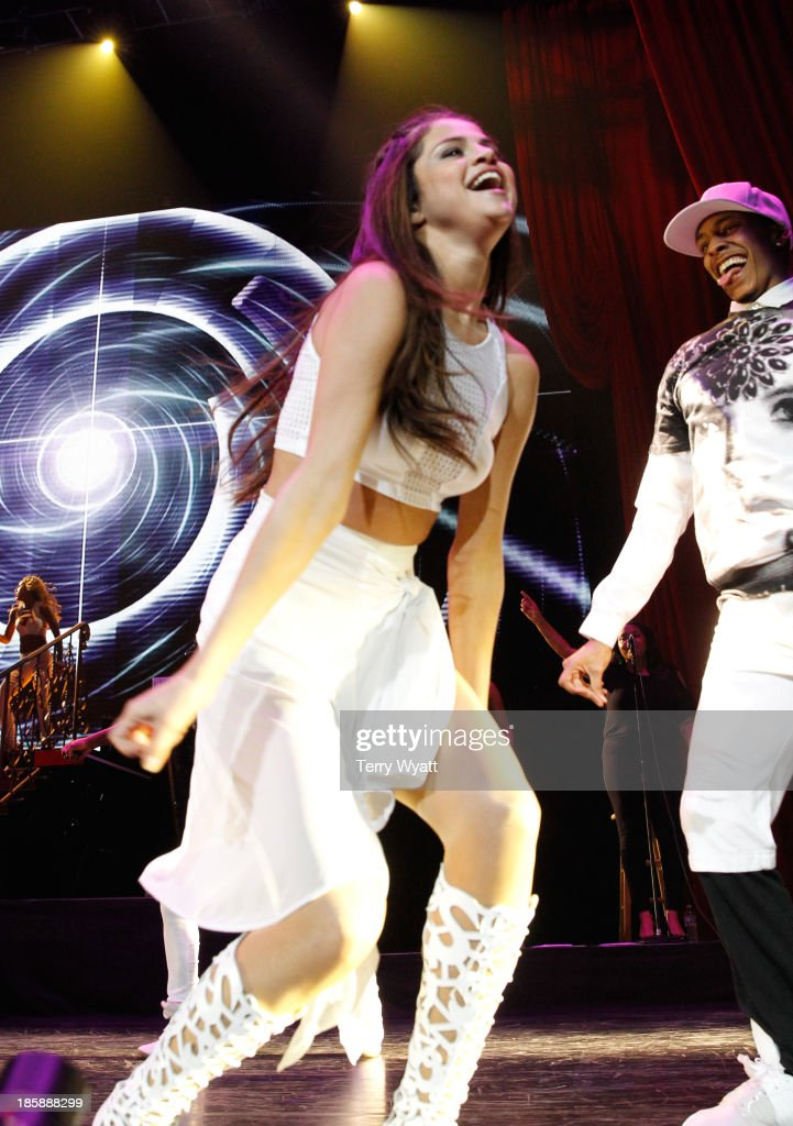 Singer Selena Gomez performs at the Bridgestone Arena on October 25, 2013 in Nashville, Tennessee.