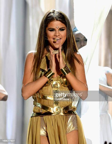 Singer Selena Gomez performs onstage during the 2013 Billboard Music Awards at the MGM Grand Garden Arena on May 19 2013 in Las Vegas Nevada