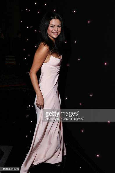Singer Selena Gomez poses during the 19th Annual Hollywood Film Awards at The Beverly Hilton Hotel on November 1 2015 in Beverly Hills California