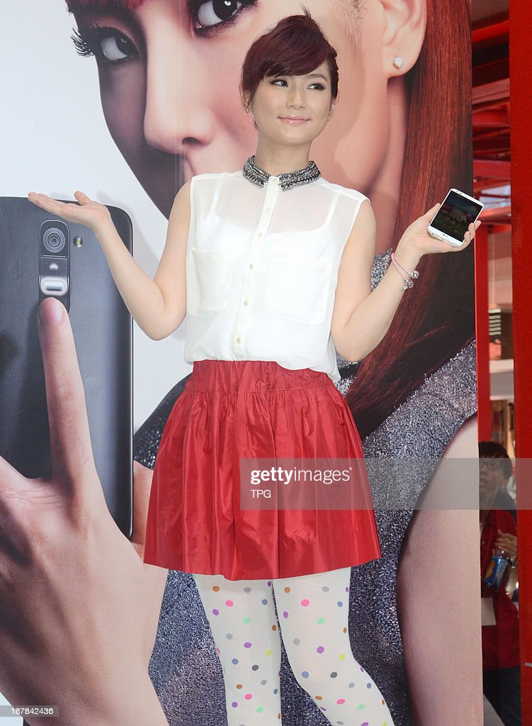 Singer Selina attends commercial activity on Saturday November 9,2013 in Taipei,China.