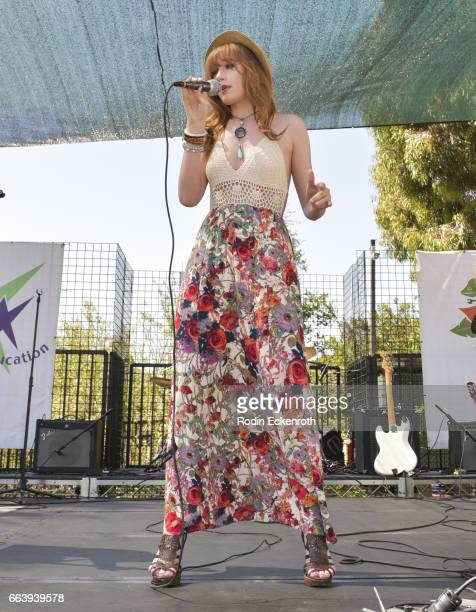 Singer Serena Laurel performs onstage at 17th Annual Children's Earth Day Extravaganza at Star Eco Station on April 2 2017 in Culver City California