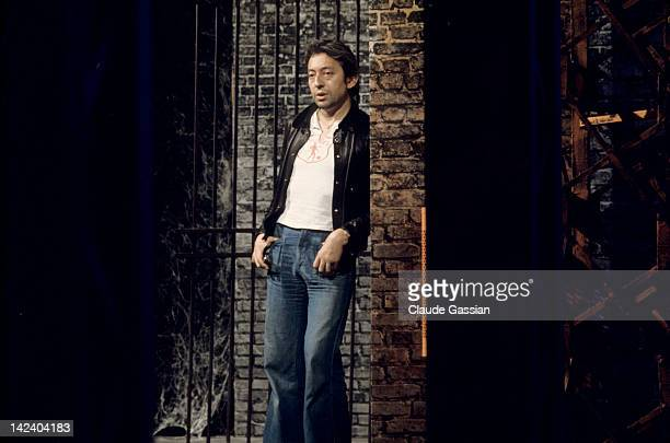 Singer Serge Gainsbourg is photographed for Self Assignment on May 25 1974 in Paris France