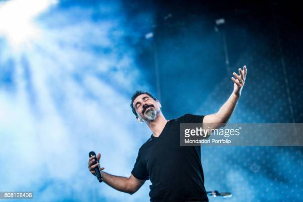 Singer Serj Tankian front man of the band System of a Down in concert at Firenze Rocks Festival Florence Italy 25th June 2017