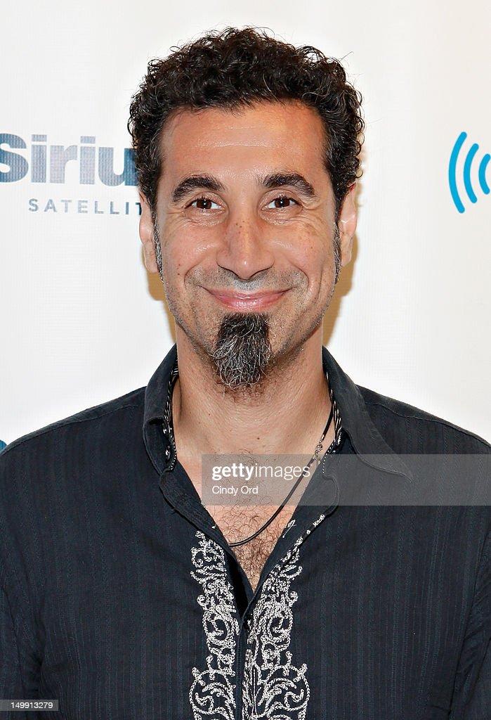 Singer Serj Tankian visits SiriusXM Studio on August 6, 2012 in New York City.