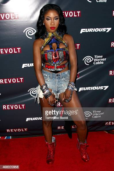 Singer Sevyn Streeter attends the Revolt Live hosts exclusive 'Furious 7' takeover with musical performances from the official movie soundtrack held...
