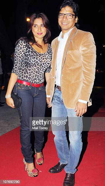 Singer Shaan with his wife Radhika at the annual bash of Rishi Darda held at Tote in Mumbai
