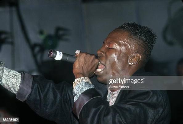 Singer Shabba Ranks in concert 1990s