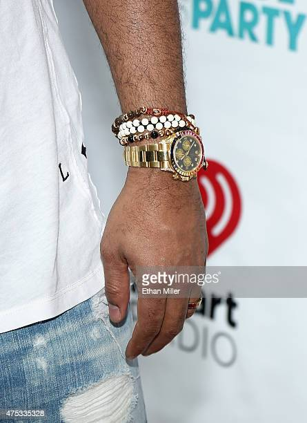 Singer Shaggy jewelry and watch detail attends The iHeartRadio Summer Pool Party at Caesars Palace on May 30 2015 in Las Vegas Nevada
