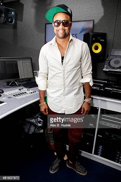 Singer Shaggy poses for pictures during a visit to Kiss FM on July 23 2015 in London England