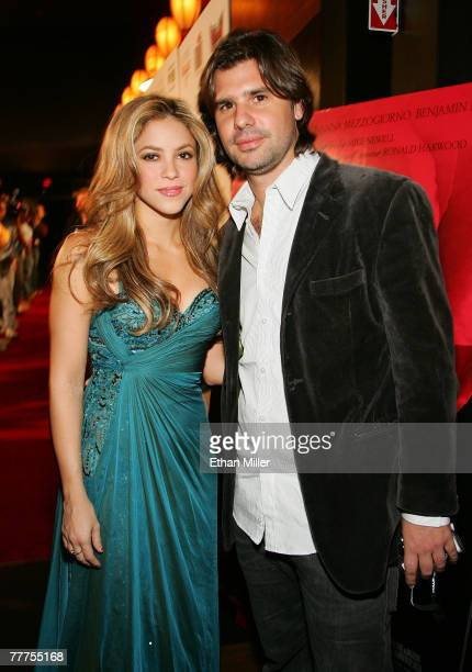 Singer Shakira and Antonio de la Rua arrive at 'An Evening of Love' benefitting The Bare Feet Foundation featuring a special screening of 'Love in...