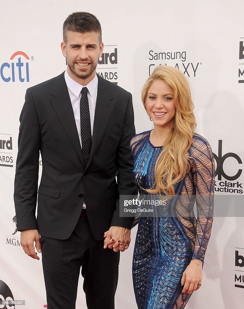 Singer Shakira and Gerard Pique arrive at the 2014 Billboard Music Awards at the MGM Grand Garden Arena on May 18, 2014 in Las Vegas, Nevada.