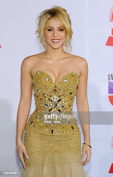 Singer Shakira arrives at the 12th annual Latin GRAMMY Awards at the Mandalay Bay Resort Casino November 10 2011 in Las Vegas Nevada